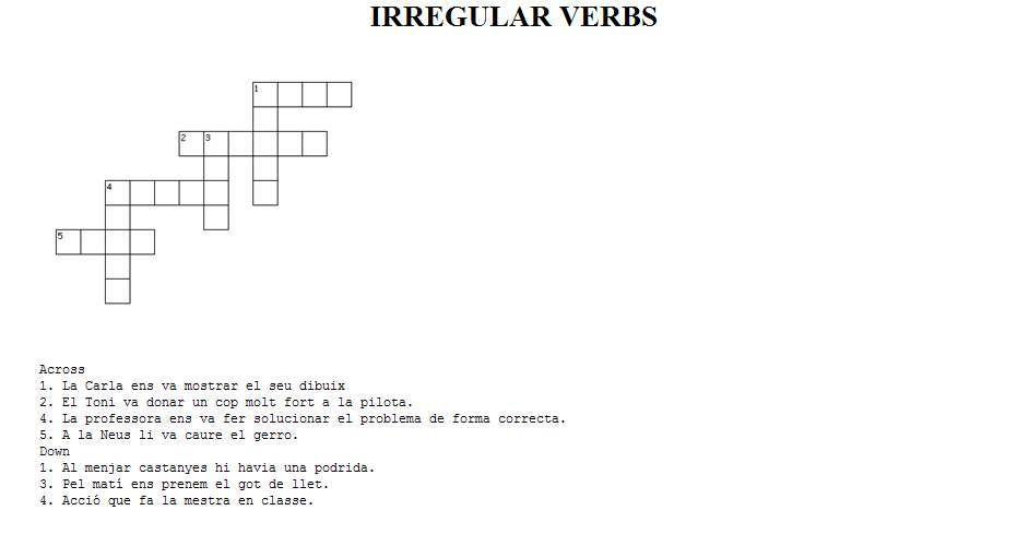 The Irregular Verbs | El blog de los verbos irregulares